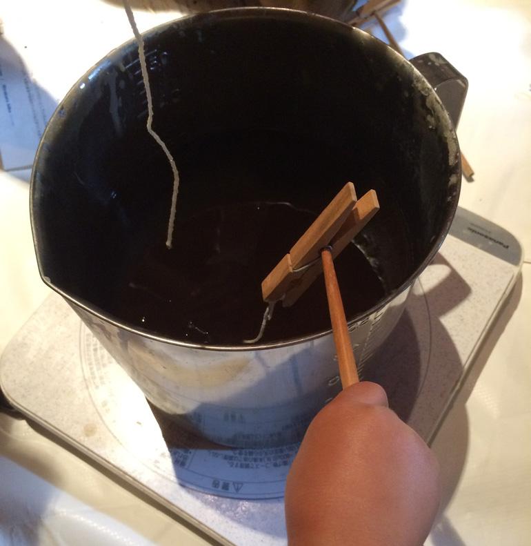 mitsu01 子どもと暮らし 「蜜蝋キャンドル作り」