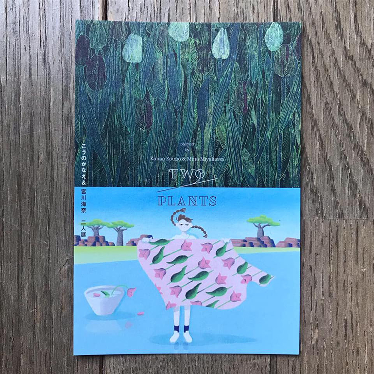 twodm omote1 【展示のお知らせ】「two plants」 〜 こうのかなえ / 宮川海奈 二人展 〜