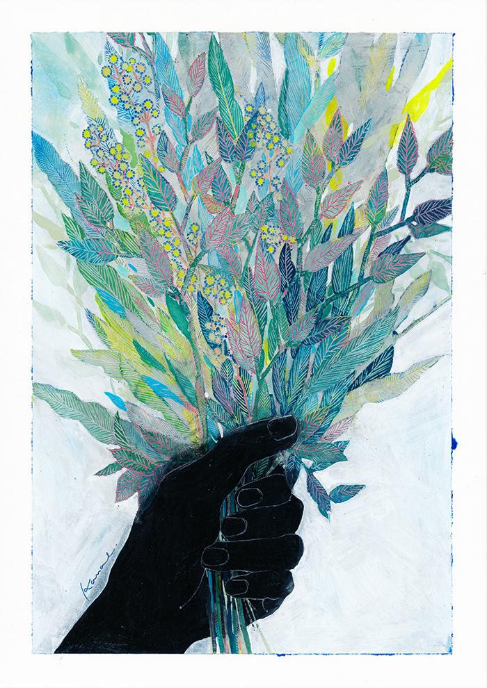 000flower01 「手と花と」出展作品